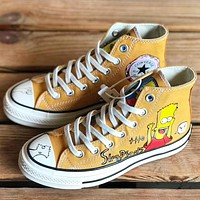 Trendsetter  Converse 1970s Women Men Fashion Casual  High-Top Canvas Shoes