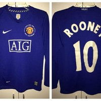 Sale!! Vintage Nike Manchester United long sleeve soccer jersey MUFC England Football