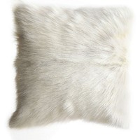 Creative Co-Op Genuine Goat Hair Accent Pillow   Nordstrom