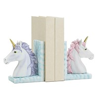 Modern Living Room Decor Magical Unicorn Bookends