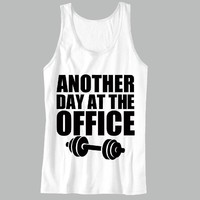 Another Day At The Office Unisex Tank Top - For Gym Time - Great Motivation