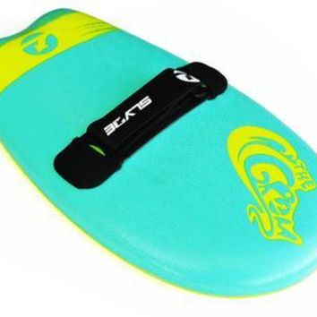 THE SLYDE GROM SOFT TOP HANDBOARD FOR BODYSURFING - TURQUOISE AND ELECTRIC LEMON