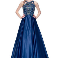 Sleeveless A Line Long Evening Dress