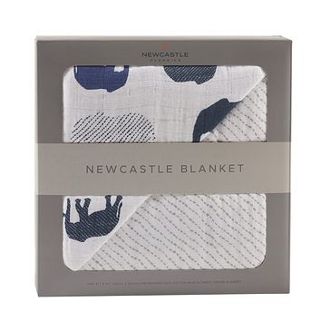 Blue Elephant and Spotted Wave Newcastle Blanket