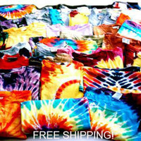 Mystery Vintage Inspired Tie Dye Tee Shirts, All sizes So HIPPY BABY!!