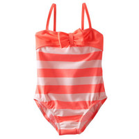 Coral Striped Swimsuit