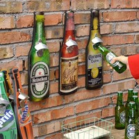 Wall Hanging Beer Bottle Shape Bottle Opener