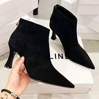 CELINE Winter Fashion Women Heels Shoes Boots