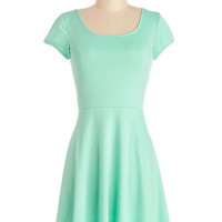 Short Sleeves A-line Awe-Inspiring Aqua Dress