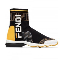 Fendi Mania Rocko Leather Sock Boot