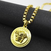 HIP HOP Medusa Versace Pendant Necklace