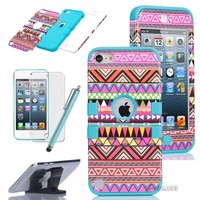 Tribal Hybrid High Impact Hard Case Cover for Apple iPod Touch 5 itouch 5th Gen