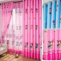 Eco-friendly Child Cartoon Curtain Window Screening Baby Customize Finished Curtain Kids Bedroom Curtain For Children Mouse