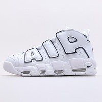 """Nike Air More Uptempo """"White/Midnight Navy"""" Platform Sneakers Shoes"""