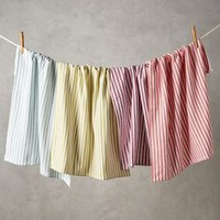 Baker Stripe Dishtowels by Anthropologie in Assorted Size: Set Of 4 Kitchen