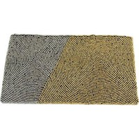 Diagonal Block Wristlet Clutch ~ Grey & Gold