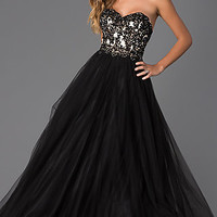 Strapless Sweetheart Tulle Ball Gown