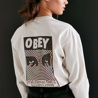 OBEY Subliminal Visual Long-Sleeve Tee - Urban Outfitters