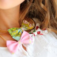 Kawaii Fashion Bow Tie Necklace by Mademoiselle Mermaid