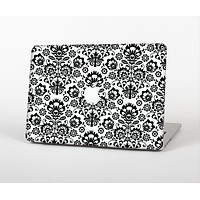 """The Black Floral Delicate Pattern Skin Set for the Apple MacBook Air 13"""""""