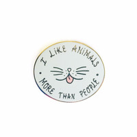 Animals > People Pin