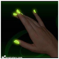 QT Glow In The Dark Neon Nail Lacquer Nail Polish Neon Yellow 0.5 Oz / 15ml Made In USA