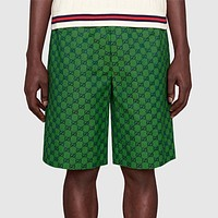 GG men's and women's double G loose casual wide-leg shorts