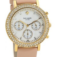 Kate Spade New York Pave Metro Grand Chronograph Watch