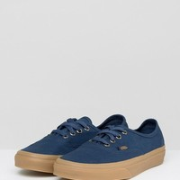Vans Authentic Trainers In Navy at asos.com