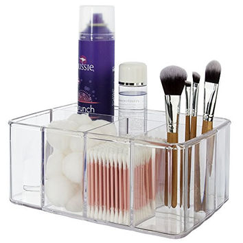Premium Quality Plastic Vanity Organizer | 5 Compartments  bathroom accessories and toiletrie