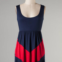 V is for Victory -- Navy/Red
