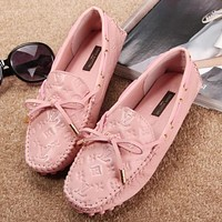 Louis Vuitton LV Women Fashion Casual Moccasin-Gommino Flats Shoes