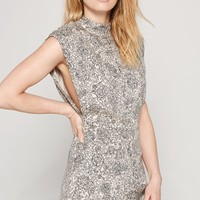 AMUSE SOCIETY - Golden Haze Romper | Gray Mist