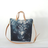 Crossbody Zip Tote - Hand Dyed Canvas