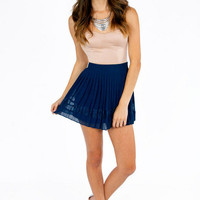 Lace Between Pleated Skirt $25