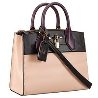 Louis Vuitton City Steamer Bag Bicolor Beige