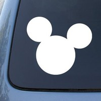 MICKEY MOUSE EARS - Vinyl Car Decal Sticker #A1540 | Vinyl Color: White