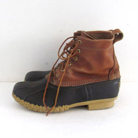 Vintage LL Bean Tall Brown Duck Boots - mens Size 10.5-11