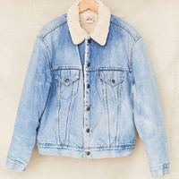 Vintage Levis Sherpa Lined Denim Jacket - Urban Outfitters
