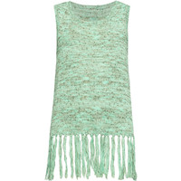 FULL TILT Fringe Girls Sweater Tank | Tanks & Camis