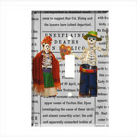 Light Switch Cover - Light Switch  Day of the Dead Mexico Creative Couple