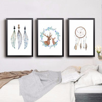 Nordic Minimalist Love Motivational Typography Deer Poster Quotes  Wall Picture Canvas Painting Kids Room Home Decor