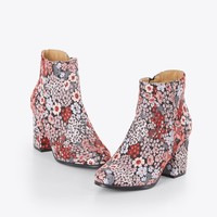 Baroque Embroidered Booties