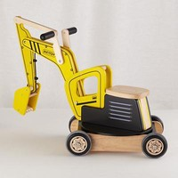 The Land of Nod: Kids Ride On: Wooden Excavator Crane Ride On in New Toys and Gifts