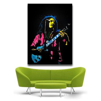 Bob Marley guitar HD Canvas Painting Wall Art Prints Home Decor Picture Panels Poster For Living Unframed free shipping