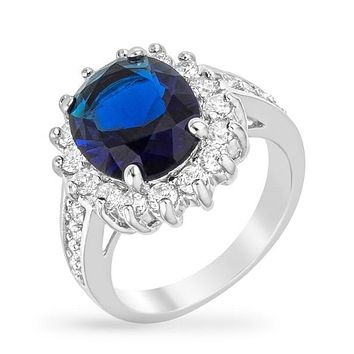 Kate Royal Sapphire Blue Cambridge Engagement Ring | 7ct
