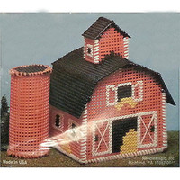 Barn Silo Counted Cross Stitch Kit Stitch Village Building Collectible NMI c150