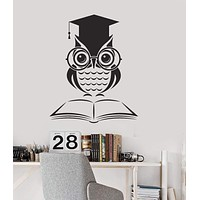 Vinyl Wall Decal Owl Book School Classroom Science Art Decor Stickers Mural Unique Gift (ig5169)
