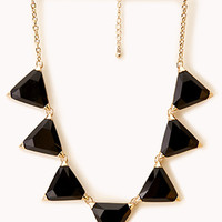 Faceted Faux Gemstone Necklace