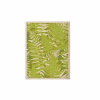 """Jacqueline Milton """"Fun Fern - Green"""" Green Floral KESS Naturals Canvas (Frame not Included)"""